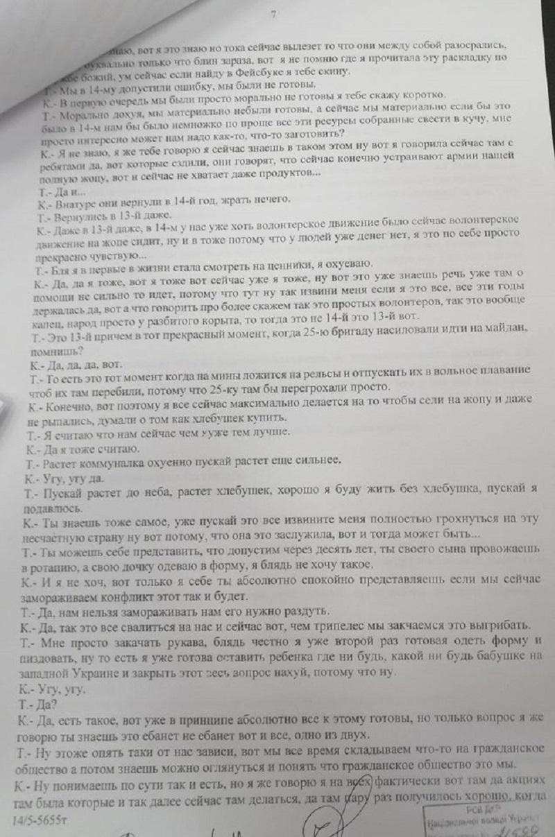 Опубликована расшифровка беседы Кузьменко о принесении в жертву Зверобой - фото 1