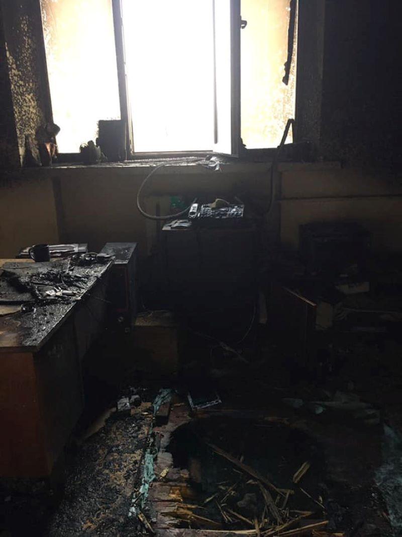 Под Львовом сожгли редакцию газеты