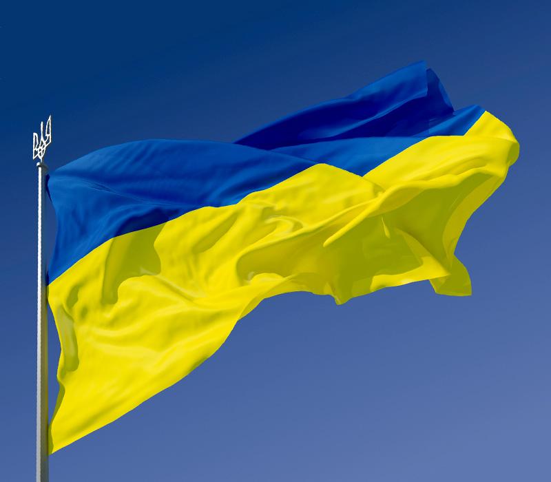Самый высокий в мире небоскреб подсветили цветами флага Украины