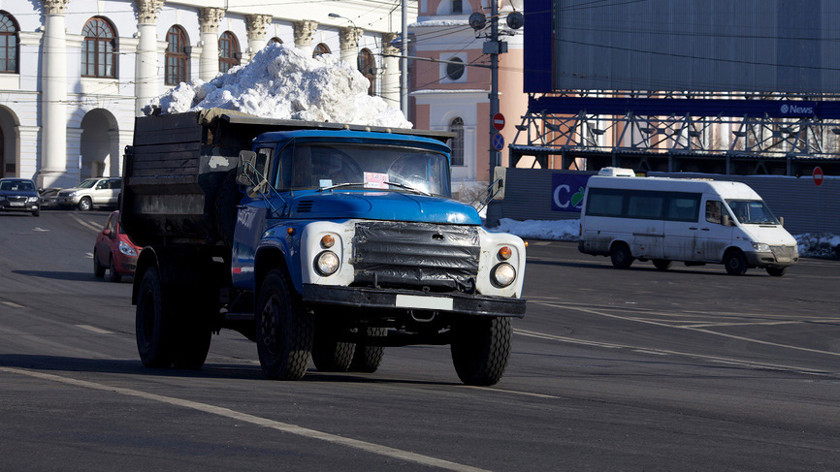 В Киев везут 30 тонн снега из Карпат