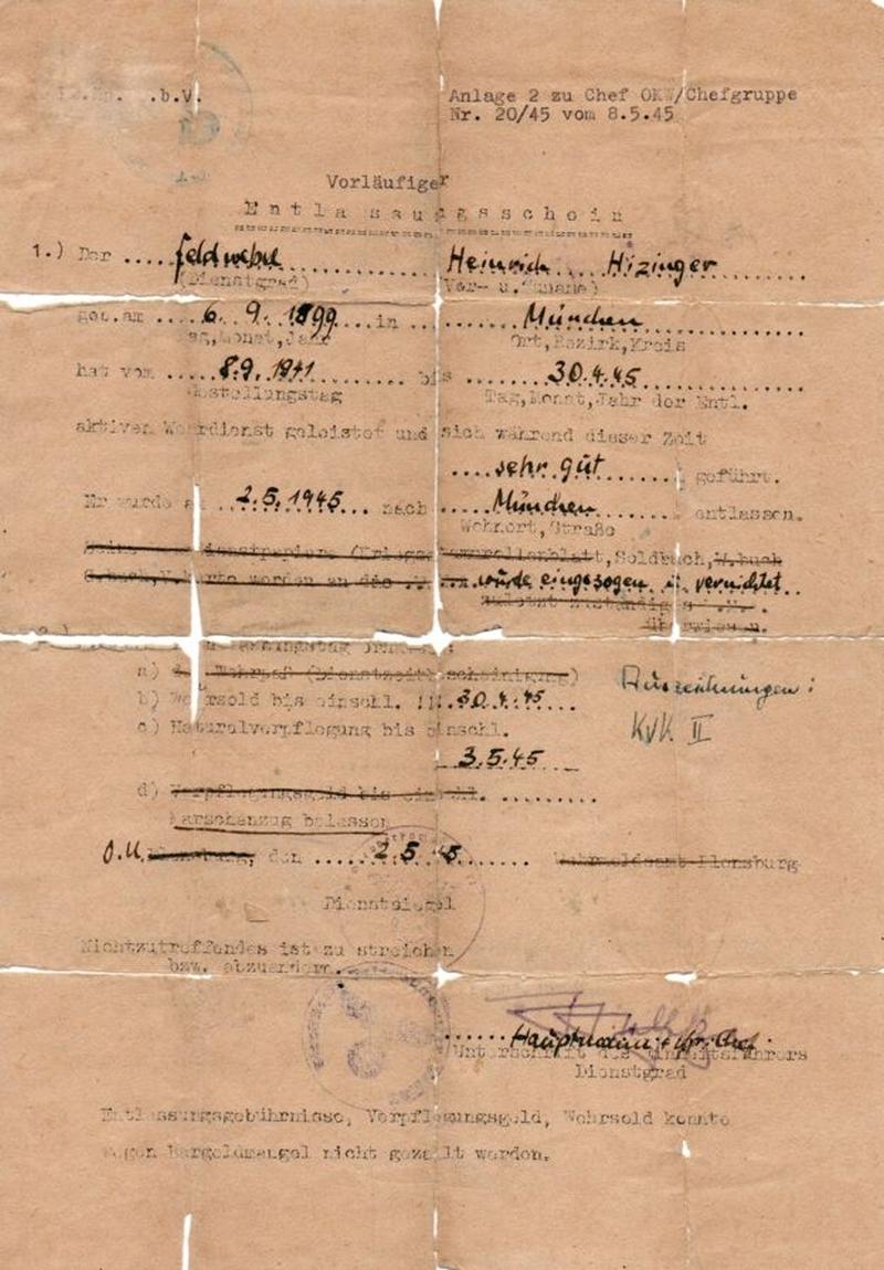 В Британии нашли документ, благодаря которому бежал Генрих Гиммлер - фото 1
