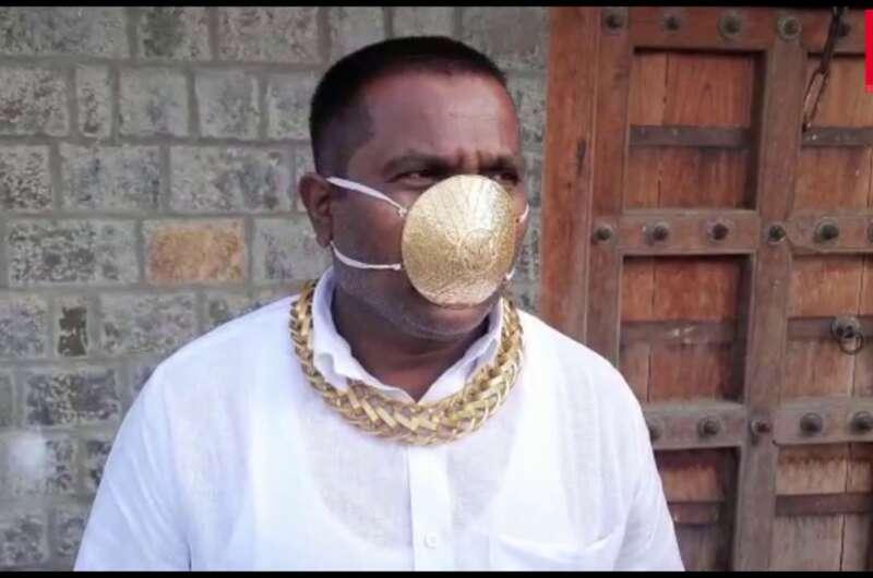 Индийский бизнесмен сделал от коронавируса золотую маску-800x530