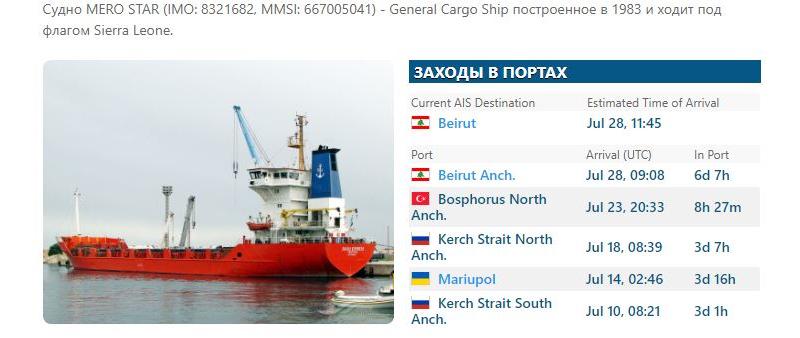 Корабли из Украины находились в порту Бейрута в момент взрыва - фото 3