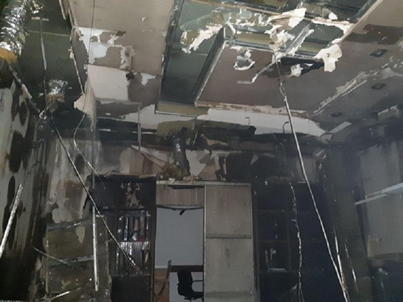 В Одессе горел завод полуфабрикатов