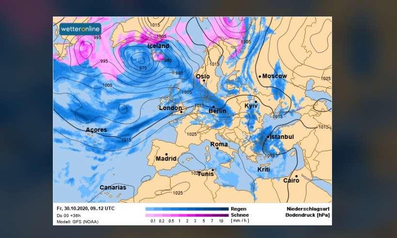 Погода на 30 октября – в Украину идет похолодание, дожди и мокрый снег - фото 1