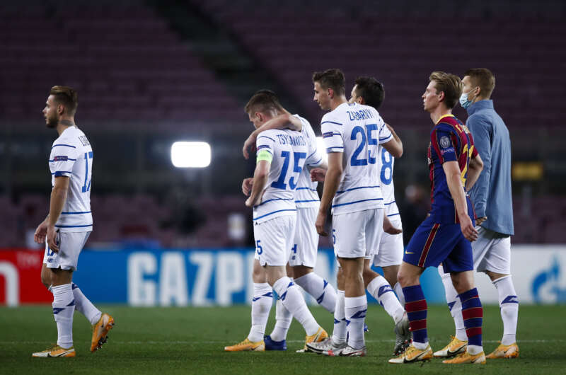 В матче Лиги чемпионов Динамо свухую проиграло Барселоне-800x530