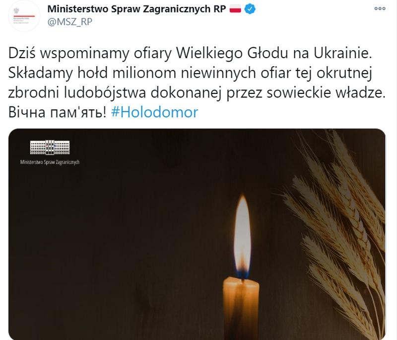 Польша почтила память жертв Голодомора по-украински - фото 1