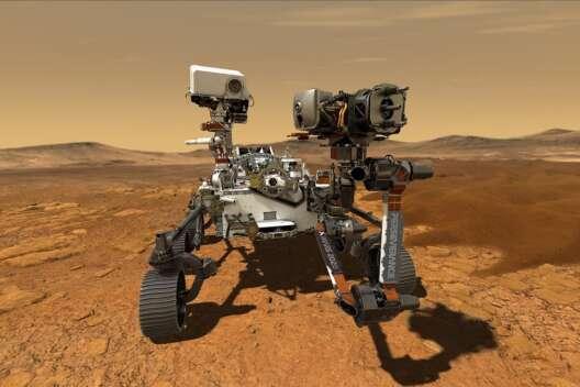 Марсоход Perseverance впервые после посадки проехал по поверхности планеты-1200x800