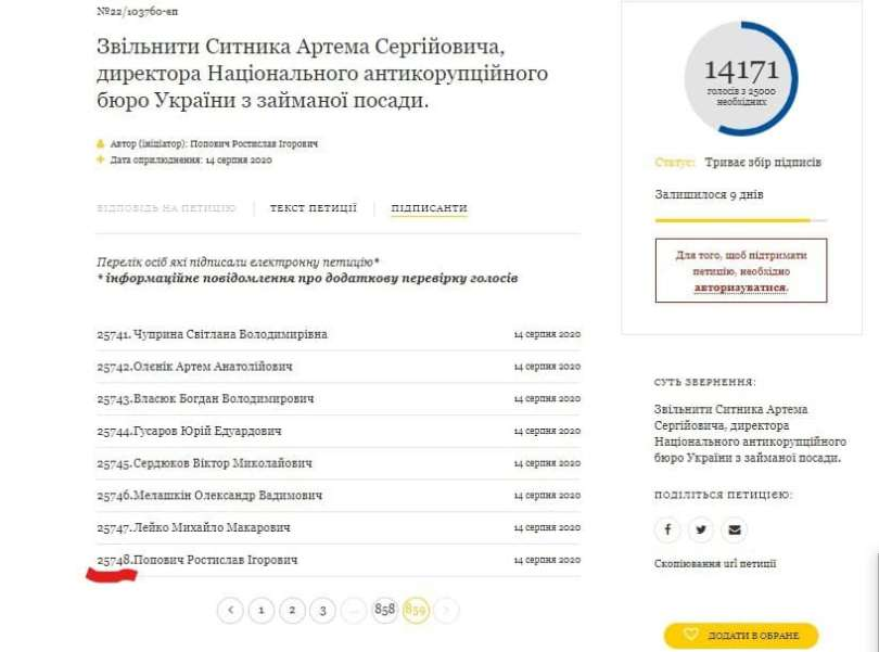 Петиция за отставку Сытника набрала более 25 000 подписей - фото 1