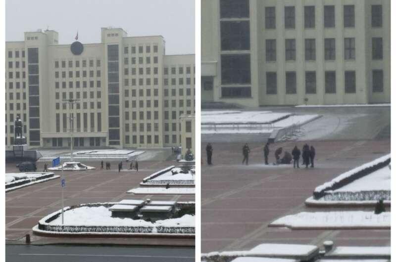 Мужчина совершил самоподжог возле Дома правительства-800x530