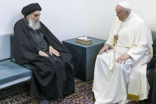 Папа римский встретился с великим аятоллой Ирака Али аль-Систани-1200x800