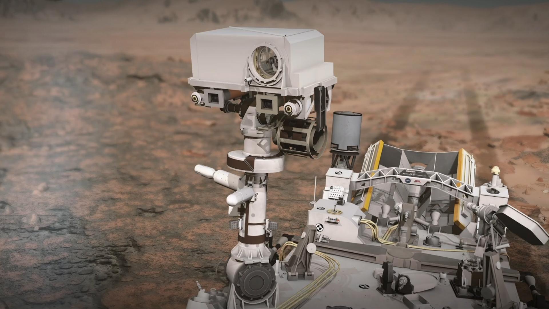 Марсоход передал звук скал Марса - аудио