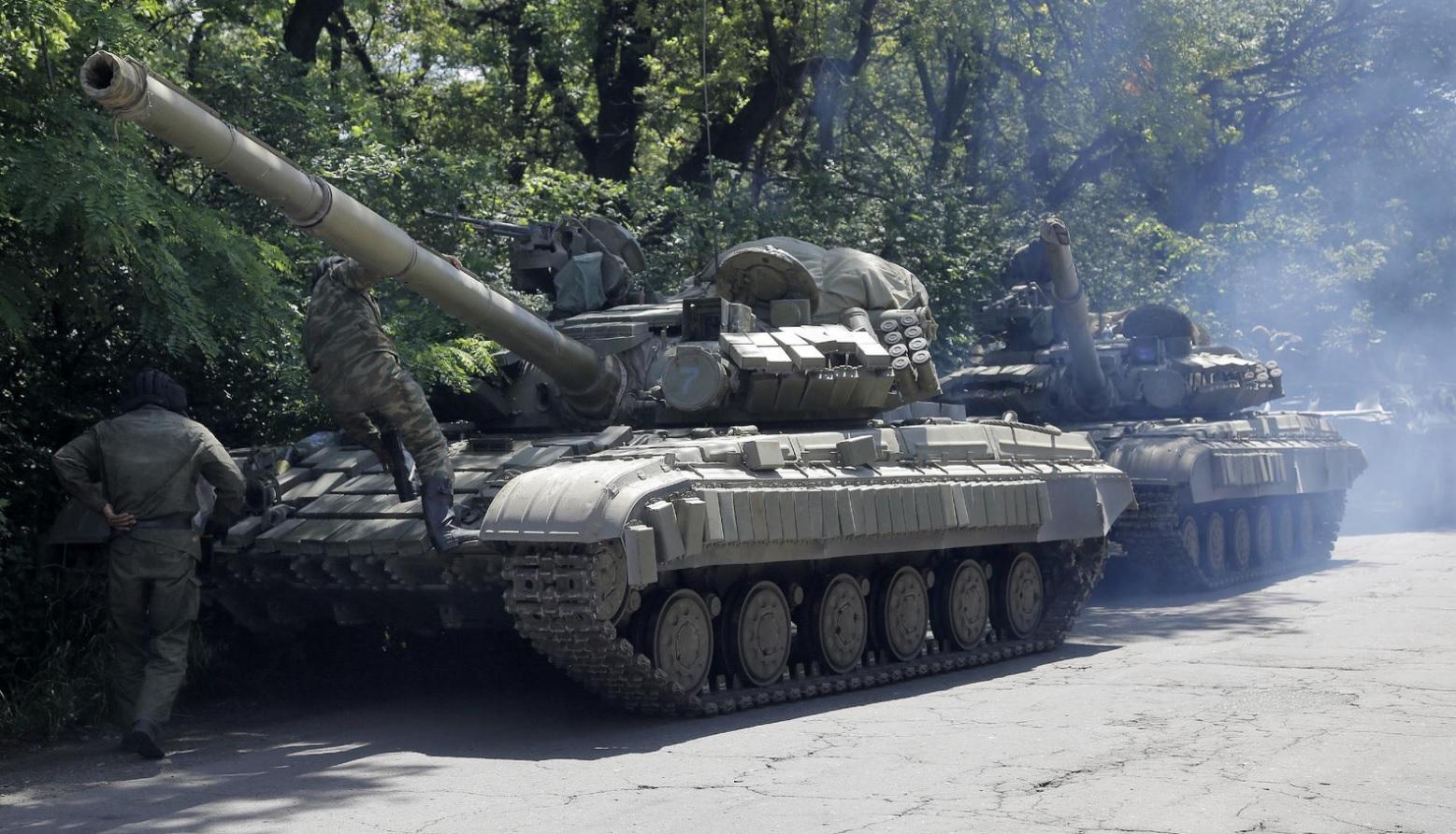 В воинской части Дагестана загорелся танк – видео