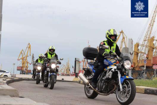 В Одессе появился полицейский мотопатруль - фото-1200x800
