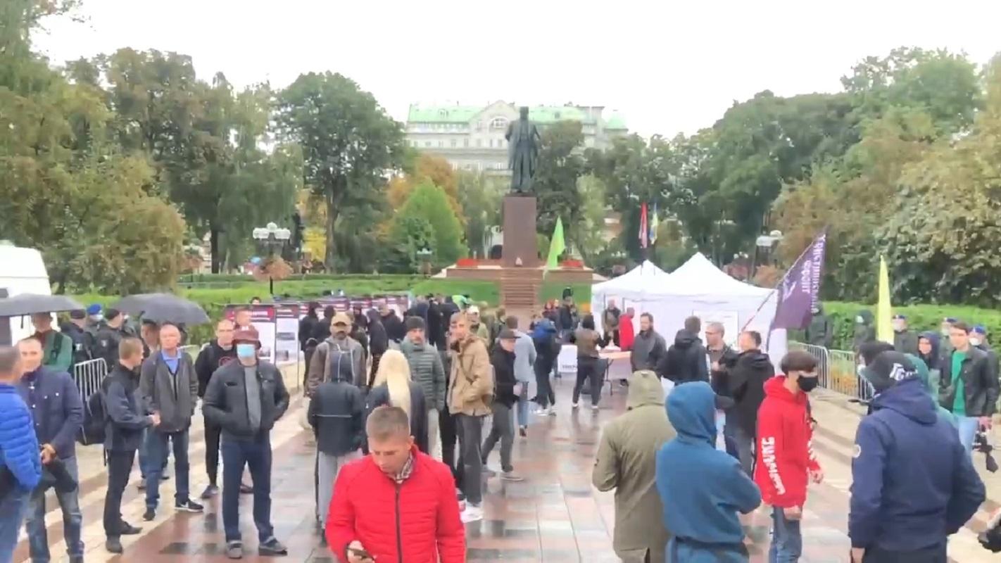 Националисты в парке Шевченко готовятся протестовать против марша ЛГБТ - фото 1